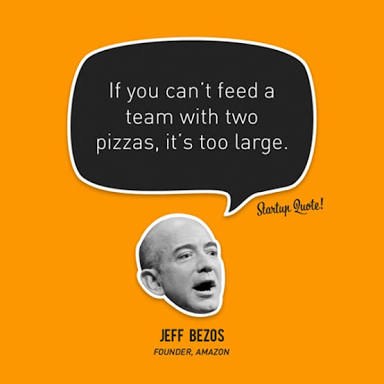 Jeff Bezos' Two Pizza Rule for Team Size